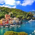 Breathtaken views of small Portofino...