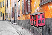 Streets of old town . Stocholm