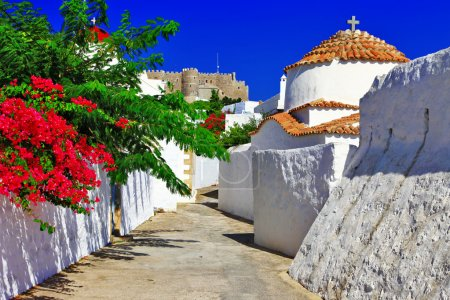 Religious Greece.Patmos island.