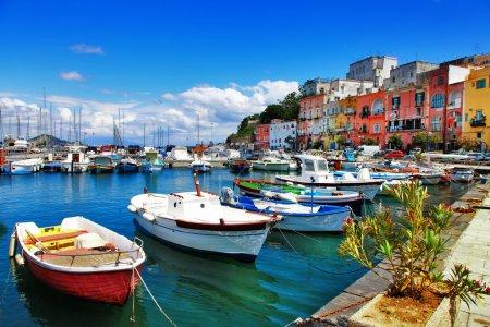 Photo pour Couleurs de la série de l'Italie - l'île de procida - image libre de droit