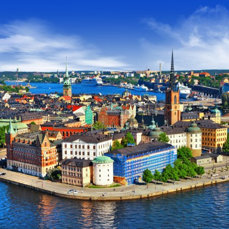 Scenic view of the Old Town (Gamla Stan) in Stockholm, Sweden