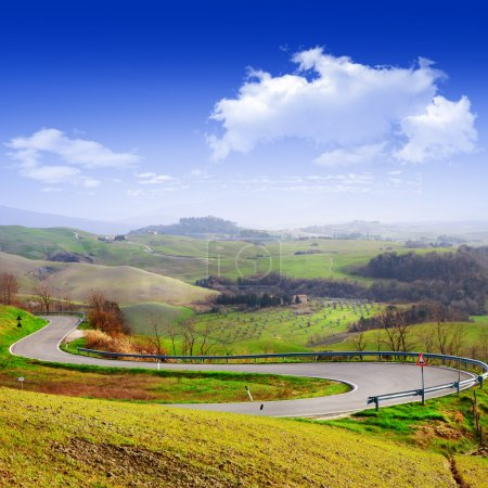 Paisaje de Toscana. Viajar en Italia serie