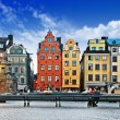 Colorful old town of Stockholm...