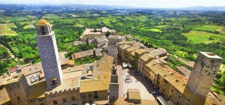 San Gimignano panorama - ville médiévale de Toscane, Italie