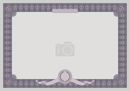 Illustration for Certificate frame template. Retro style. Vector illustration - Royalty Free Image
