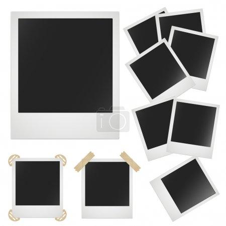 Ilustración de Marco de fotos Polaroid sobre fondo blanco. Vector de la imagen - Imagen libre de derechos
