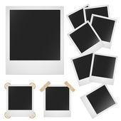 Polaroid fénykép test fehér háttér. Vektor kép