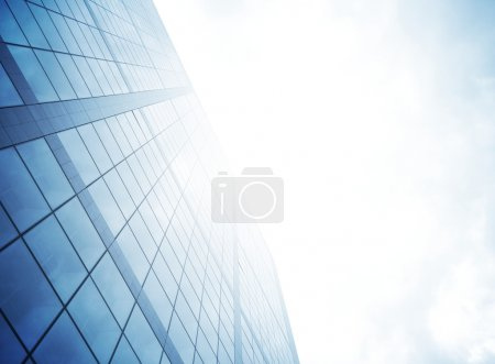 Skyscraper with light for business backgrounds and...
