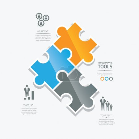 affaires puzzle pieces infographie option outils vectoriels