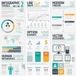 Big vector set of modern business infographics....