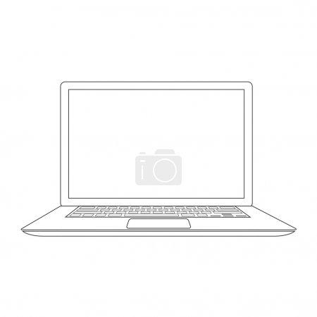 Illustration pour Illustration vectorielle pour ordinateur portable - image libre de droit