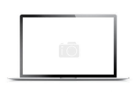 Illustration pour Ordinateur portable moderne isolé avec écran vide. Illustration vectorielle eps10 . - image libre de droit