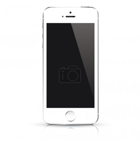 Modern smart phone similar to iphone isolated