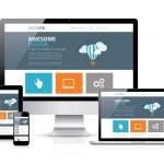 Modern flat web design in responsive website vecto...
