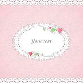 Šablona romantická karty