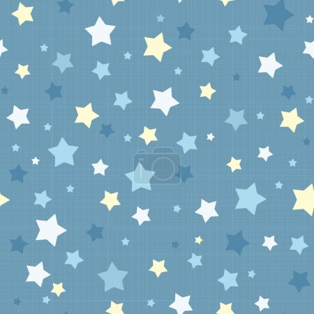 Illustration for Seamless stars pattern. Vector linen texture. Eps 8 vector illustration - Royalty Free Image