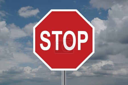 Stop Sign with Clouds