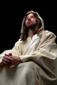 Jesus portrait in prayer