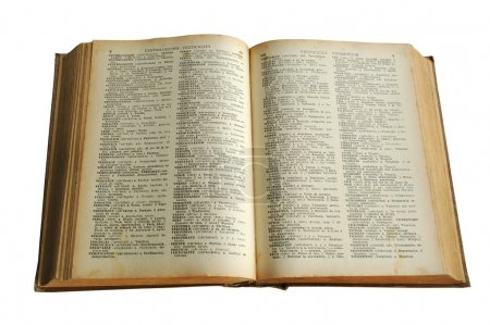 Old antique dictionary