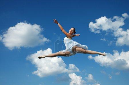 Ballerina performing a jump