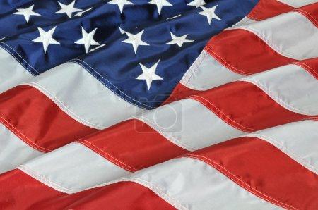 Photo pour Bouchent avec le drapeau des États-Unis d'Amérique - image libre de droit