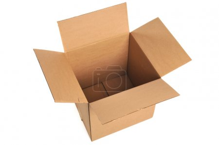 Photo for Opened cardboard box isolated on a white background - Royalty Free Image