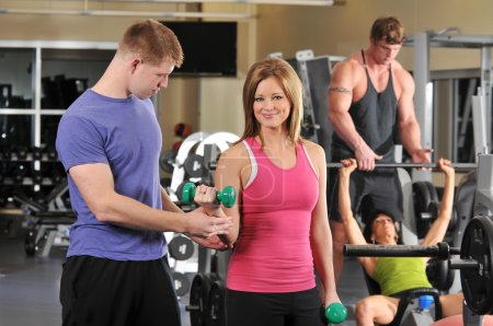 Photo for Group of working out at the gym - Royalty Free Image