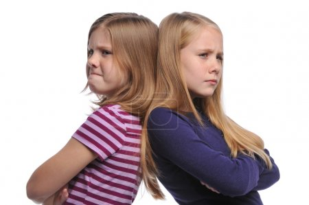 Two girl resolving a conflict