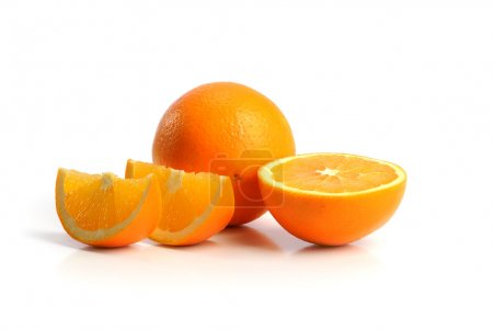 Photo for Oranges isolated on a white background - Royalty Free Image