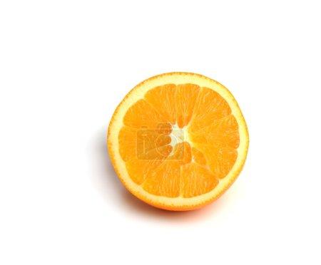 Photo pour Coupe d'orange sur fond blanc - image libre de droit