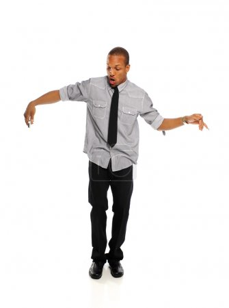 Young Black Hip Hop Dancer performing