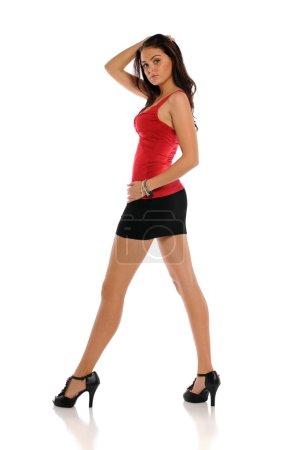 Young beautiful woman posing