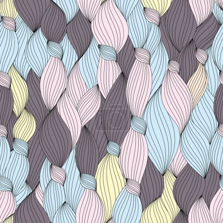Seamless pattern from hair and strips