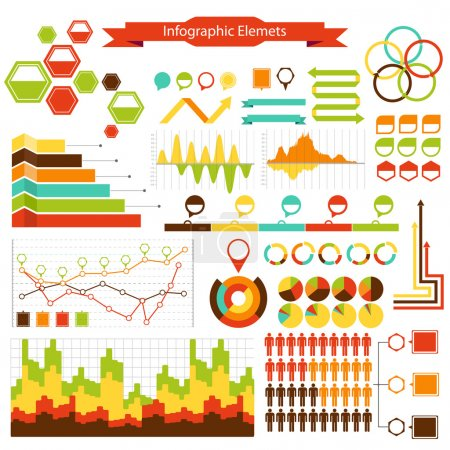 Info graphics vector elements collection