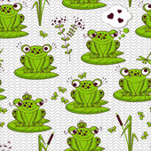 Seamless pattern - frogs
