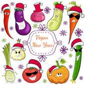 Go vegan card design vector illustration