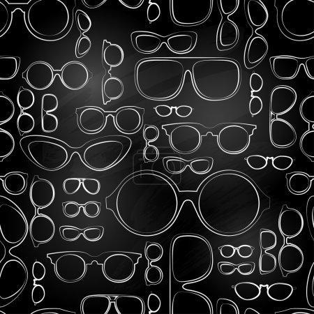 Seamless pattern from chalk glasses.