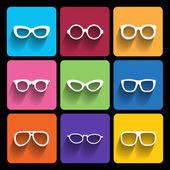Glasses frame icons Vector illustration