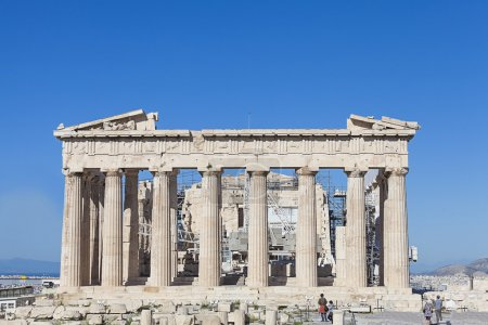 Photo for Parthenon temple in the Acropolis of Athens in Greece - Royalty Free Image
