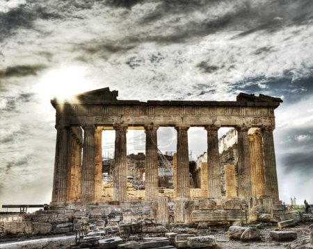 Photo for Artistic view of Caryatids in Erechtheum, Acropolis,Athens,Gr eece - Royalty Free Image