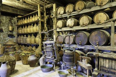 Wine cellar in monastery