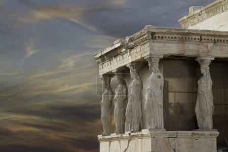 Photo for Caryatids in Erechtheum, Acropolis,Athens,Gr eece - Royalty Free Image