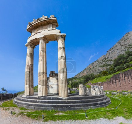 The tholos of the sanctuary of Athena Pronaia at Delphi,Greece