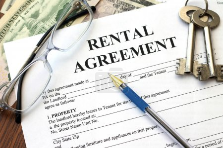 Photo for Rental agreement, close-up - Royalty Free Image