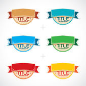 Set of Colorful Frames Stickers Labels