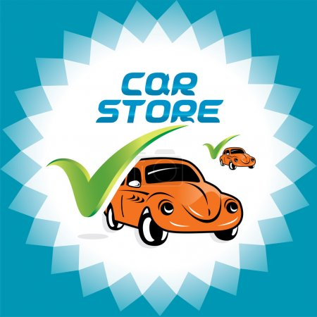 Retro Car Accept Icons Logo