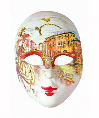 The venetian mask on a white background