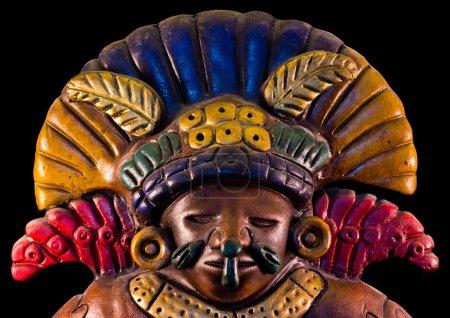 Photo pour Petit détail d'une sculpture Maya - image libre de droit