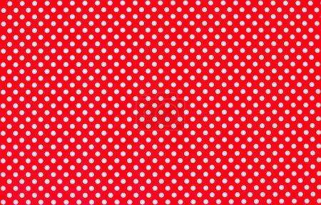 Photo pour Texture avec des points blancs et fond rouge - image libre de droit