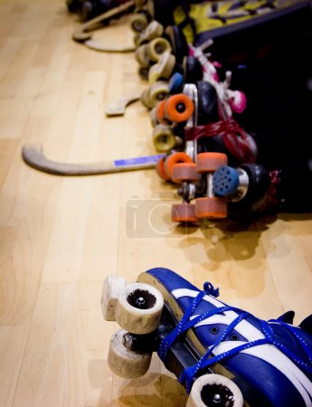 roller hockey detail